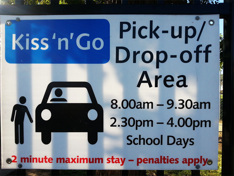 Pick up and drop off zone